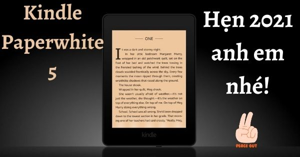 Kindle Paperwhite 5 ra mắt 2021